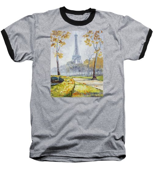Paris Eiffel Tower From Trocadero Park Baseball T-Shirt by Irek Szelag