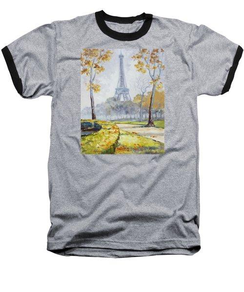 Paris Eiffel Tower From Trocadero Park Baseball T-Shirt