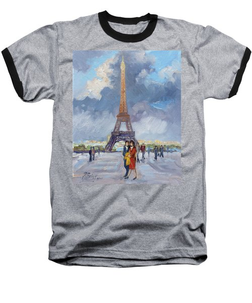 Paris Eiffel Tower Baseball T-Shirt by Irek Szelag