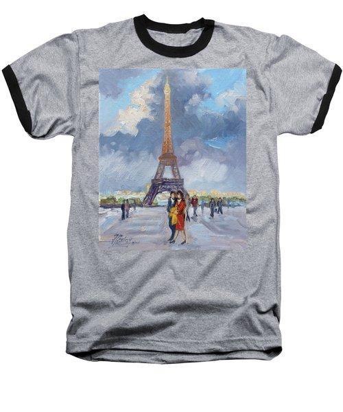 Paris Eiffel Tower Baseball T-Shirt