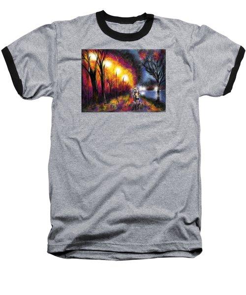 Baseball T-Shirt featuring the digital art Paris Evening by Darren Cannell