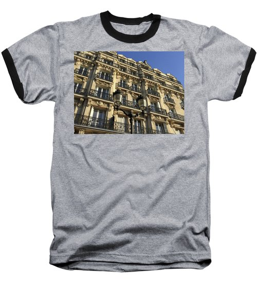 Baseball T-Shirt featuring the photograph Paris Facades by Frank DiMarco
