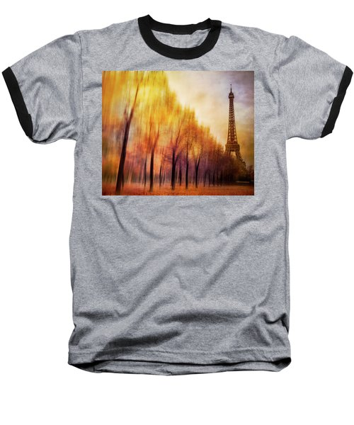 Paris In Autumn Baseball T-Shirt