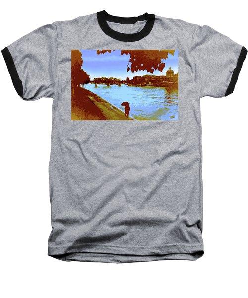 Paris In The Rain Baseball T-Shirt