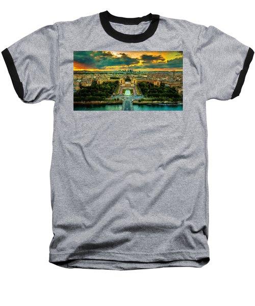 Paris Landscape Baseball T-Shirt