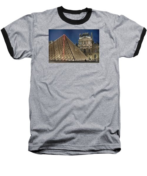 Paris Louvre Baseball T-Shirt by Juli Scalzi