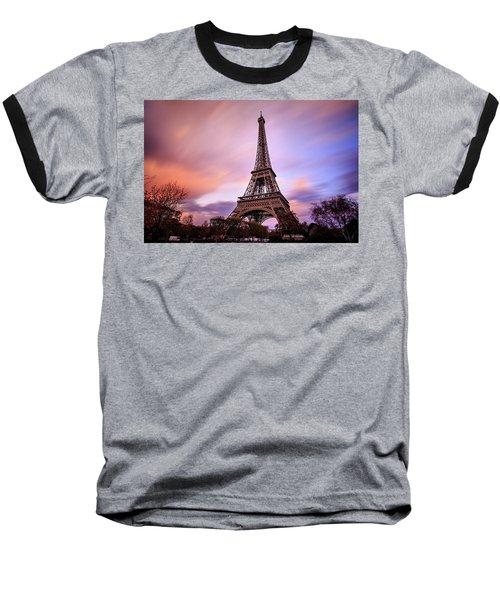 Baseball T-Shirt featuring the photograph Paris Pastels by Jennifer Casey