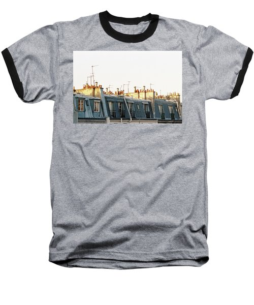 Baseball T-Shirt featuring the photograph Paris Rooftops by Frank DiMarco