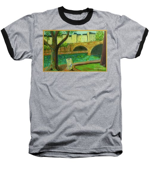 Baseball T-Shirt featuring the painting Paris Rubbish by Paul McKey