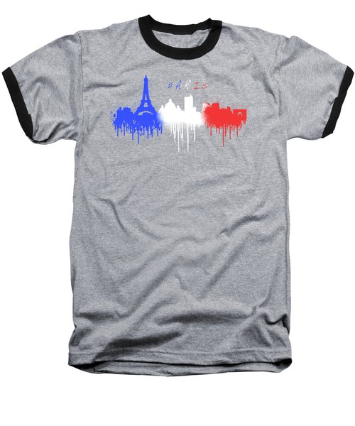 Paris Skyline  Baseball T-Shirt