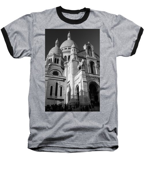 Paris Visit To Sacre Coeur Cathedral Baseball T-Shirt