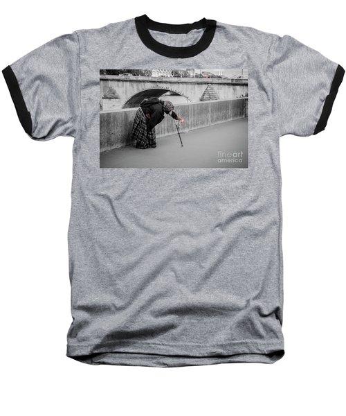 Parisian Beggar Lady Baseball T-Shirt