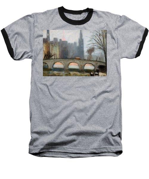 Baseball T-Shirt featuring the painting Parisian Gray by Gary Coleman