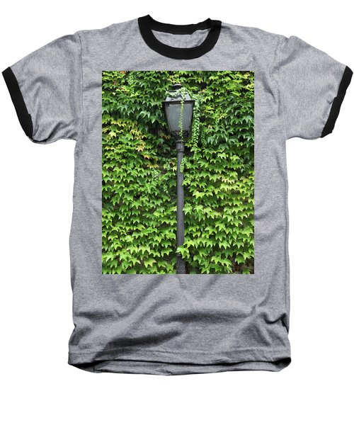 Parisian Lamp And Ivy Baseball T-Shirt by Yoel Koskas