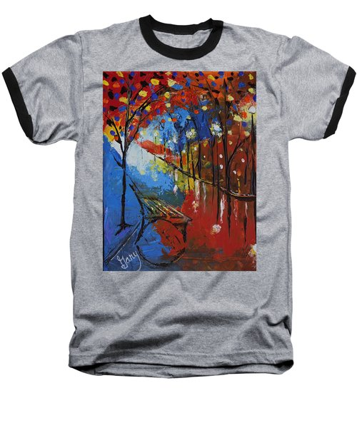 Park Bench Baseball T-Shirt by Gary Smith
