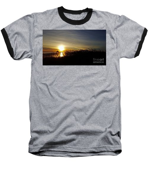 Park Sunset 3 Baseball T-Shirt