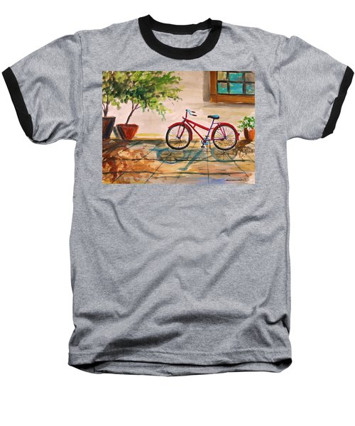 Parked In The Courtyard Baseball T-Shirt
