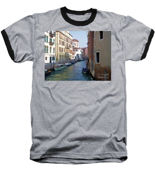 Baseball T-Shirt featuring the photograph Parked In Venice by Roberta Byram