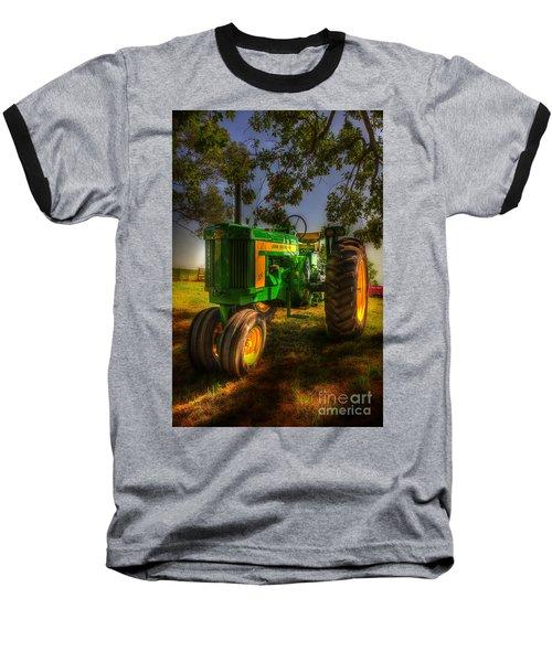 Parked John Deere Baseball T-Shirt by Michael Eingle