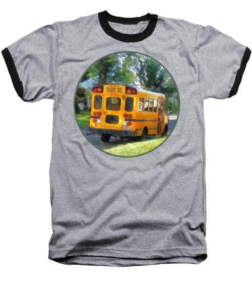 Parked School Bus Baseball T-Shirt