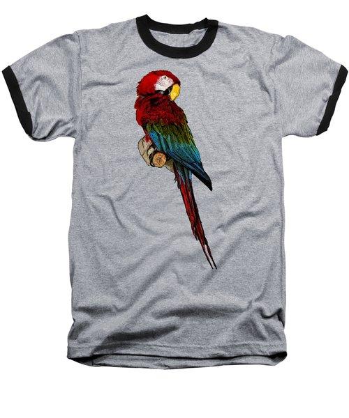 Parrot Art Baseball T-Shirt