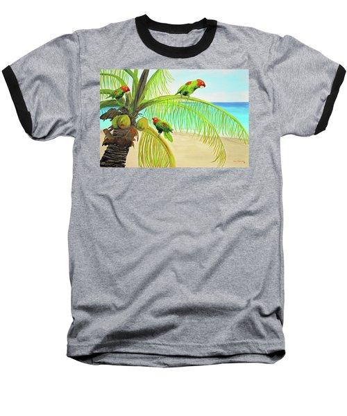 Parrot Beach Baseball T-Shirt