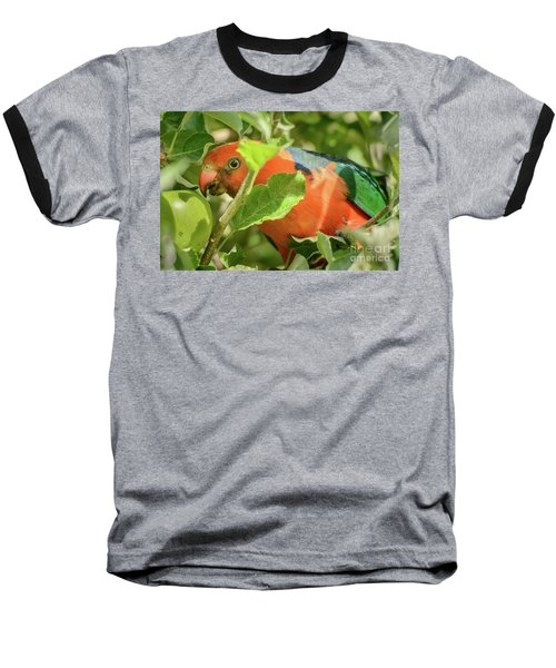 Baseball T-Shirt featuring the photograph  Parrot In Apple Tree by Werner Padarin