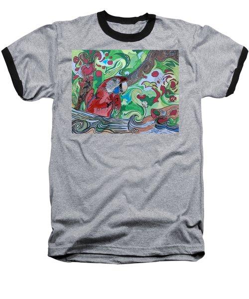 Parrot Kaleidoscope  Baseball T-Shirt