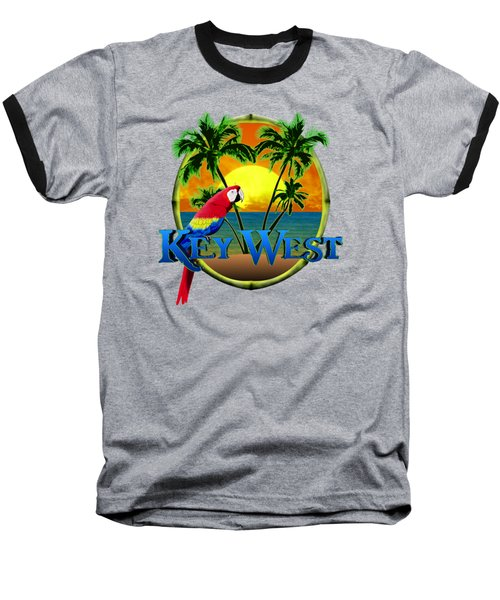 Parrot Of Key West Baseball T-Shirt