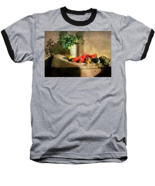 Baseball T-Shirt featuring the photograph Parsley And Peppers by Diana Angstadt