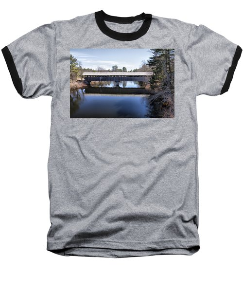Parsonfield Porter Covered Bridge Baseball T-Shirt