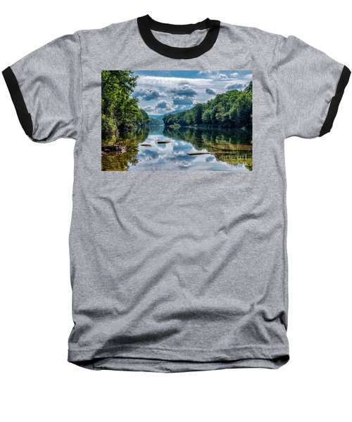 Partially Cloudy Gauley River Baseball T-Shirt
