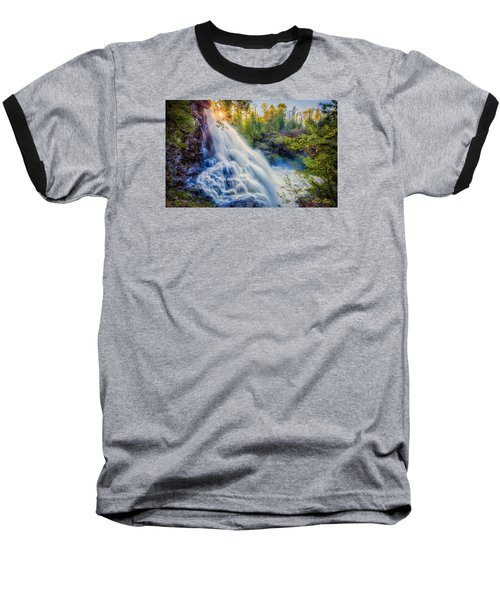 Baseball T-Shirt featuring the photograph Partridge Falls In Late Afternoon by Rikk Flohr