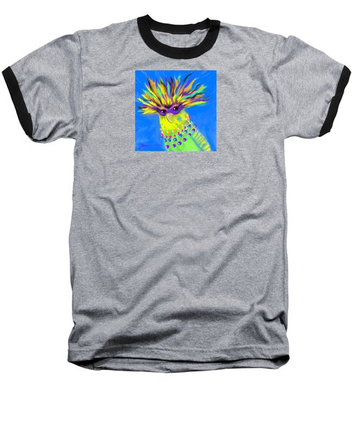 Baseball T-Shirt featuring the digital art Party Animal by Jean Pacheco Ravinski