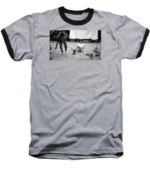 Party Crasher Baseball T-Shirt by David Gilbert
