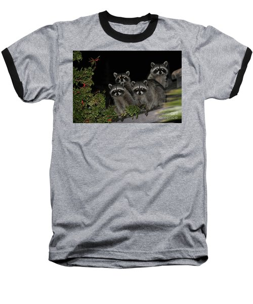 Party Of Five On The Roof Top Baseball T-Shirt by Nina Prommer