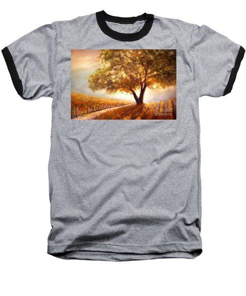 Baseball T-Shirt featuring the painting Paso Robles Golden Oak by Michael Rock
