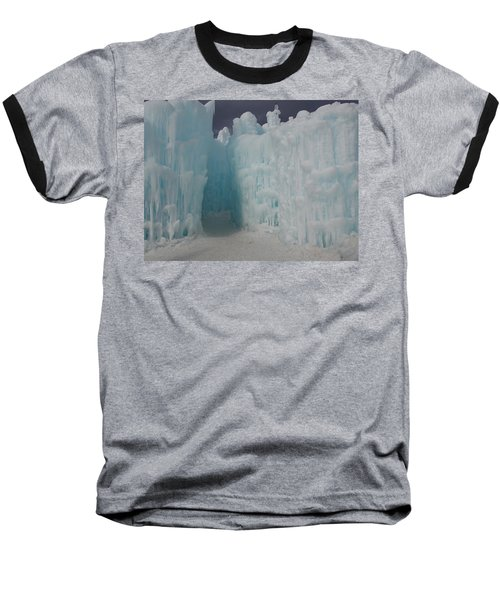 Passageway In The Ice Castle Baseball T-Shirt by Catherine Gagne
