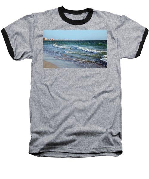 Baseball T-Shirt featuring the photograph Passagrill Beach by Ginny Schmidt