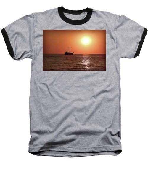 Baseball T-Shirt featuring the photograph Passing By In Calm Waters by Joan  Minchak