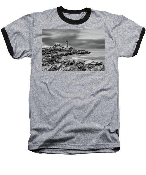 Passing Storm At Portland Head Light Baseball T-Shirt