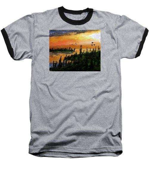 Passing The Rugged Shore Baseball T-Shirt by R Kyllo