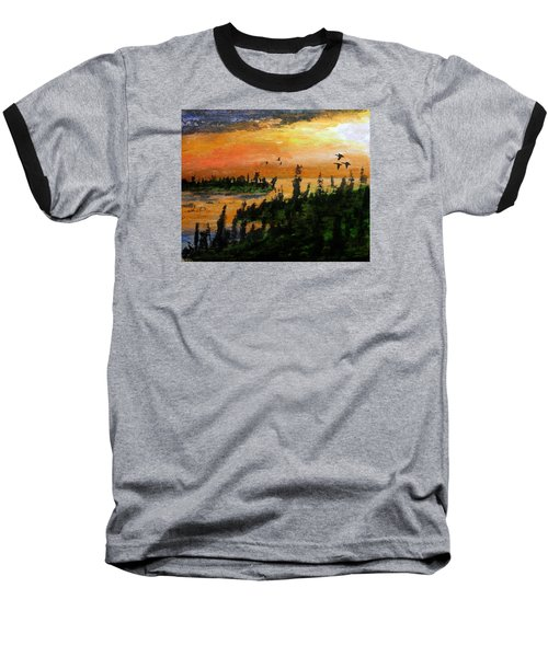 Passing The Rugged Shore Baseball T-Shirt