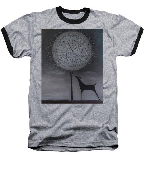 Passing Time Baseball T-Shirt by Tone Aanderaa