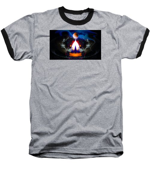 Passion Eclipsed Baseball T-Shirt by Glenn Feron