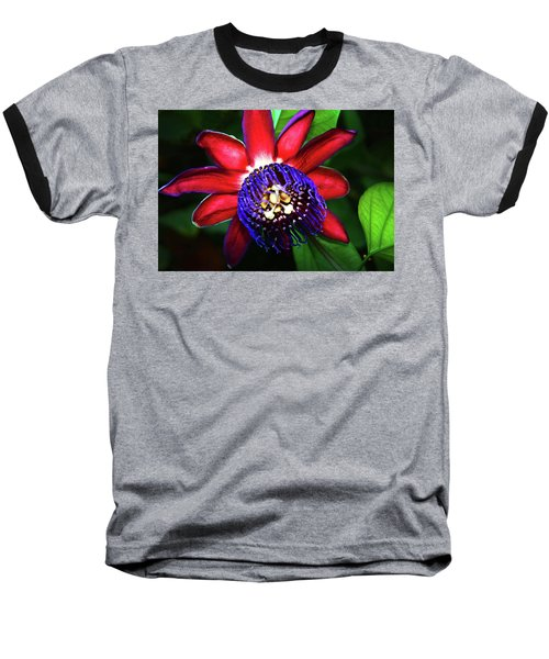 Baseball T-Shirt featuring the photograph Passion Flower by Anthony Jones