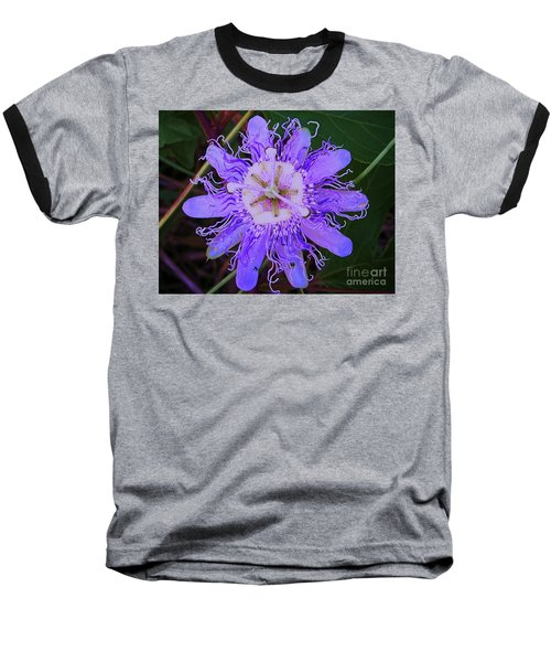 Passion Flower Bloom Baseball T-Shirt