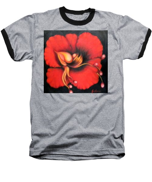 Passion Flower Baseball T-Shirt by Jordana Sands