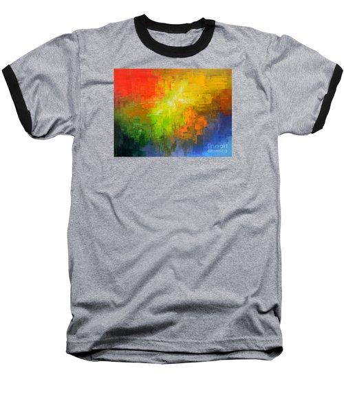 Baseball T-Shirt featuring the painting Passionate Plumage by Tatiana Iliina