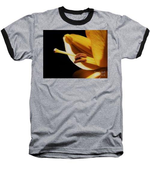 Passionate Yellow Lily Baseball T-Shirt